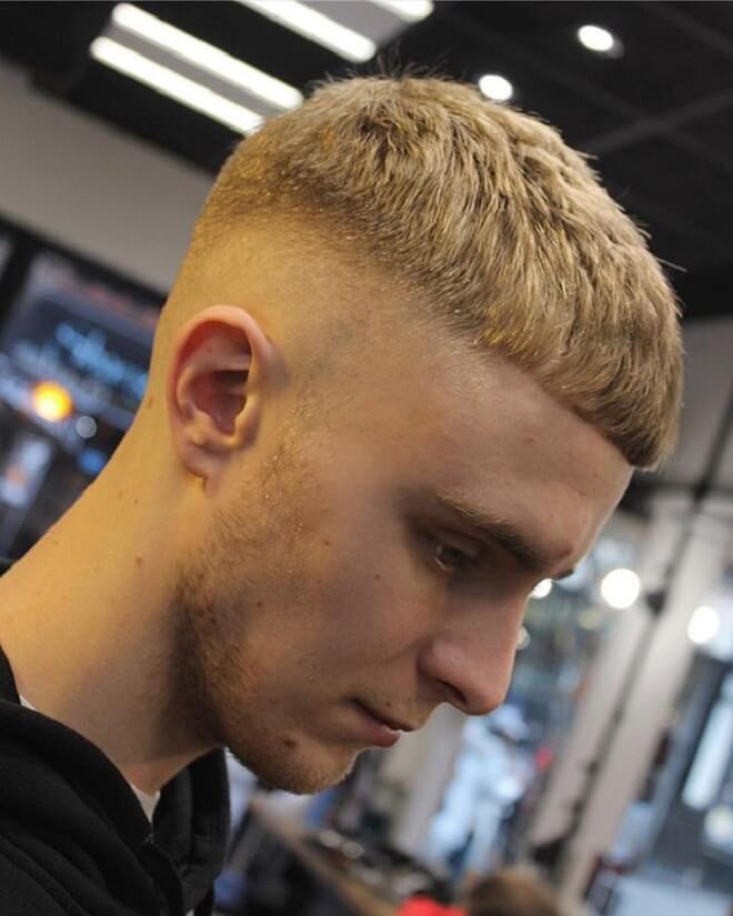 Blonde Hair Tape Fade