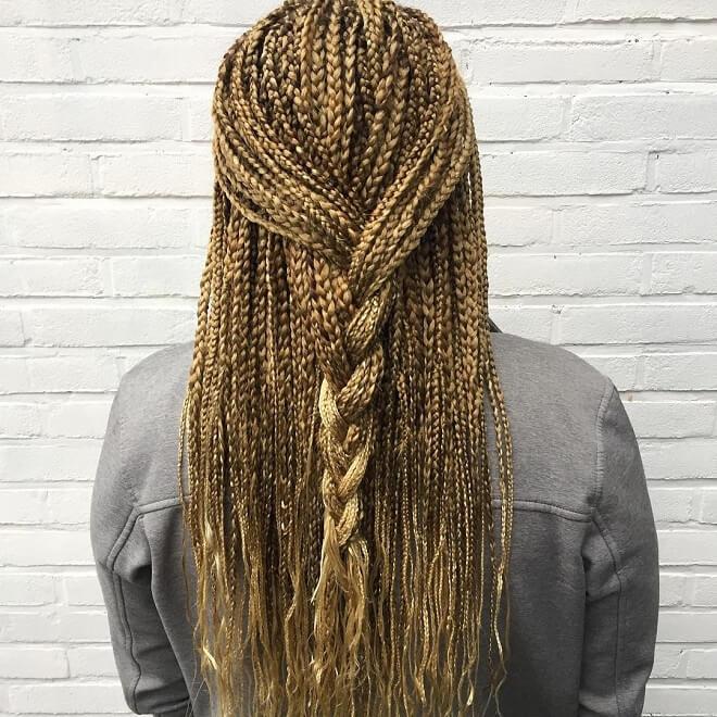Blonde Hair Twist Braid