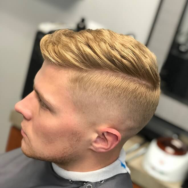 Blonde Hair With Comb Over
