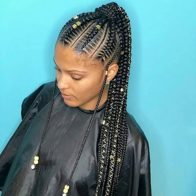 Box Braid Long Hairstyle