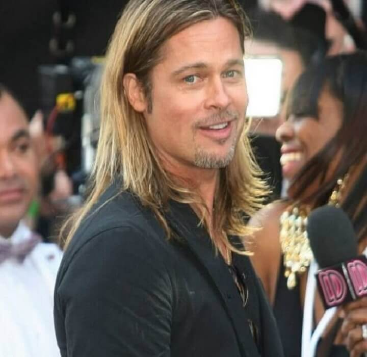 Top 30 Cool Brad Pitt Long Hairstyle Popular Brad Pitt Long Hair Of 2019