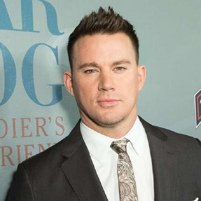 Channing Tatum Front Spiky Hairstyle