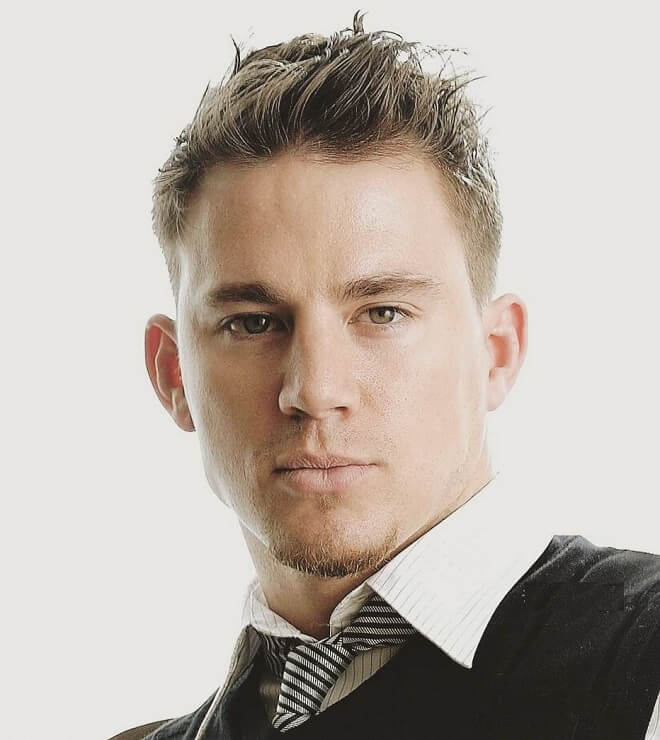 Channing Tatum Short and Messy Hairstyle