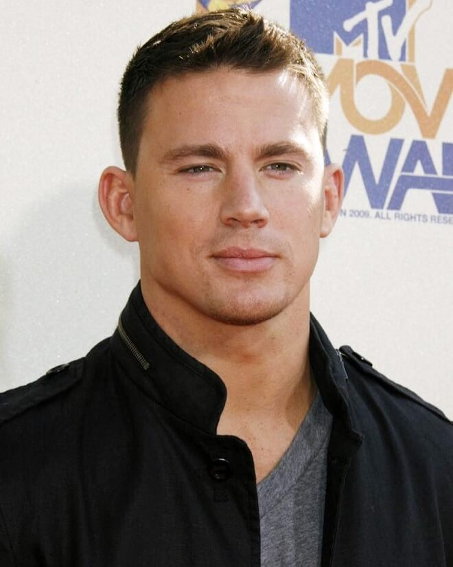 Channing Tatum's Crewcut With Short Pomade
