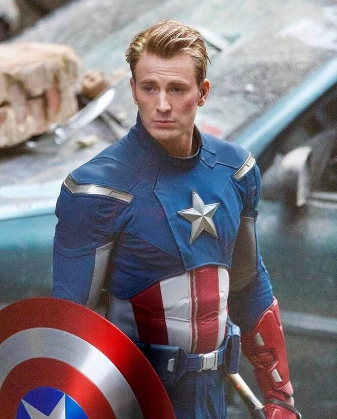 Chris Evans Avengers Hairstyle