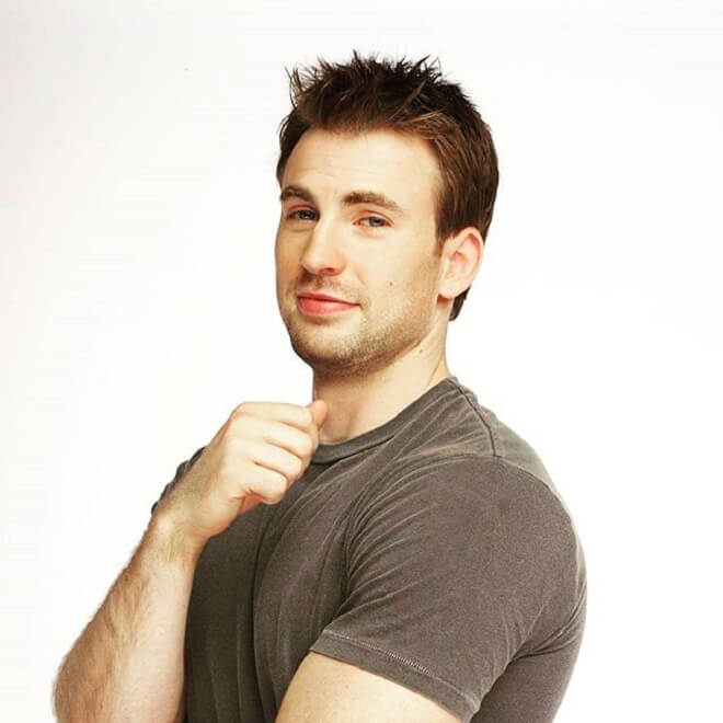 Chris Evans Short Spike Hairstyle