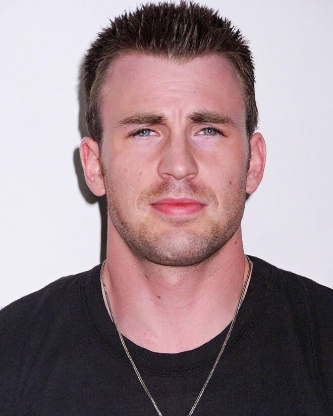 Chris Evans Short Spikey Hairstyle