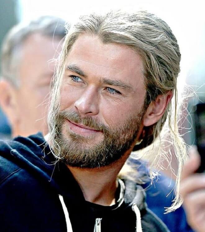Chris Hemsworth Blonde Hairstyle