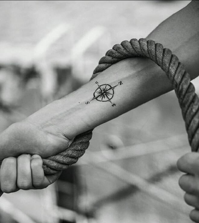 Compass Small Tattoo