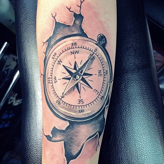 Compass Tattoo On Hand