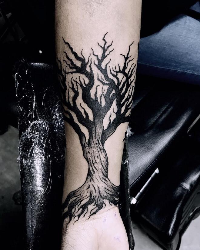 Dark Tree Tattoo