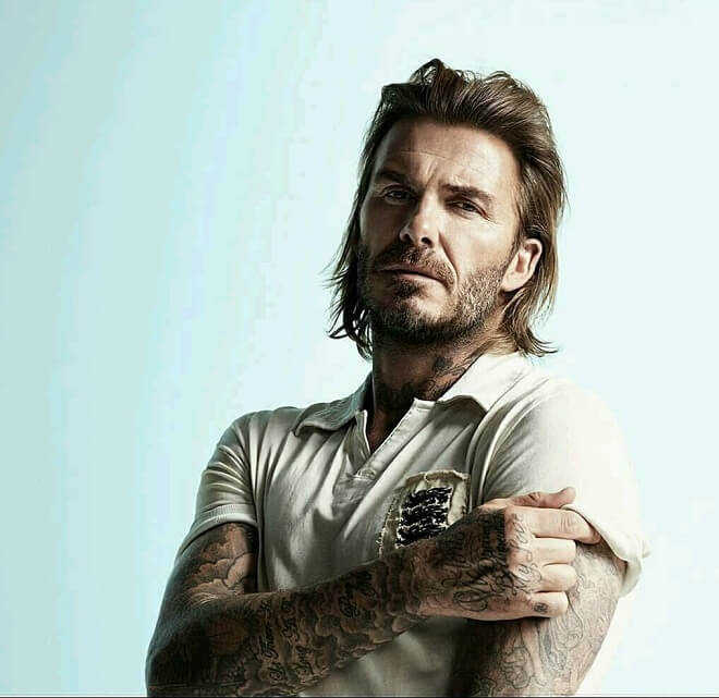 David Beckham Medium-Length Hairstyle
