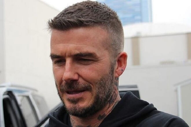 David Beckham Quiff Hairstyles With Beard