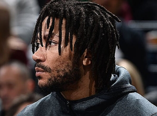 Derrick Rose Swept Dread Hairstyles