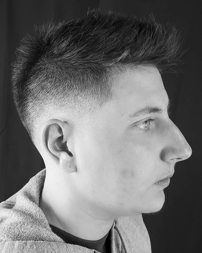 Fade With Spiky Hairstyle