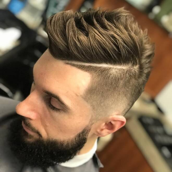 Fade With Textured Quiff Hairstyles