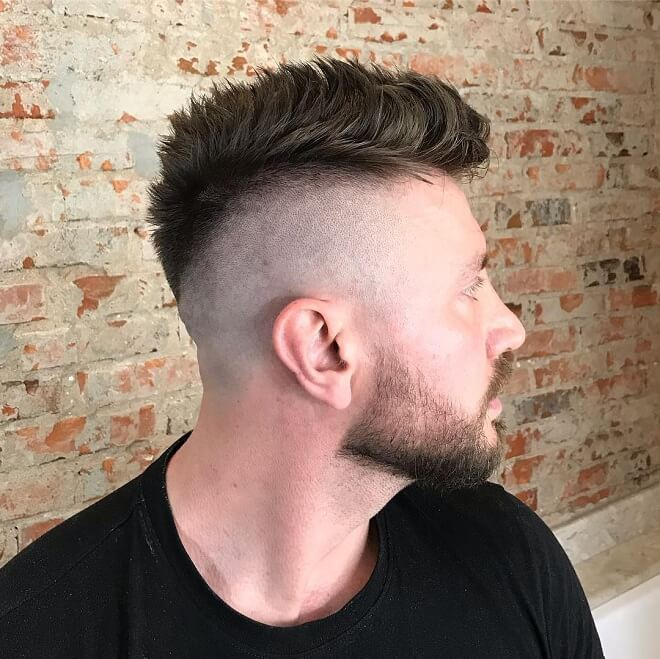 Faux Hawk Fade With Shaved Side