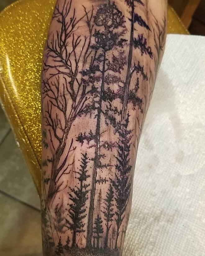 Forest Tree Tattoo