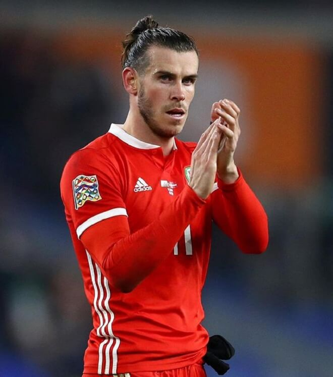 Gareth Bale Top Knot With Temp Fade