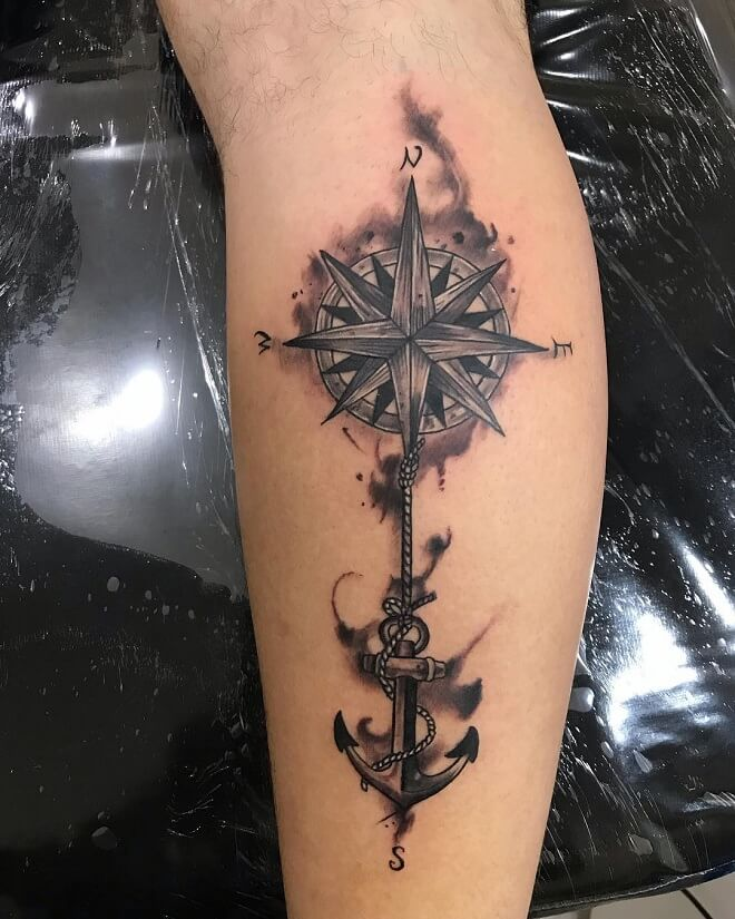 Hand Compass Tattoo