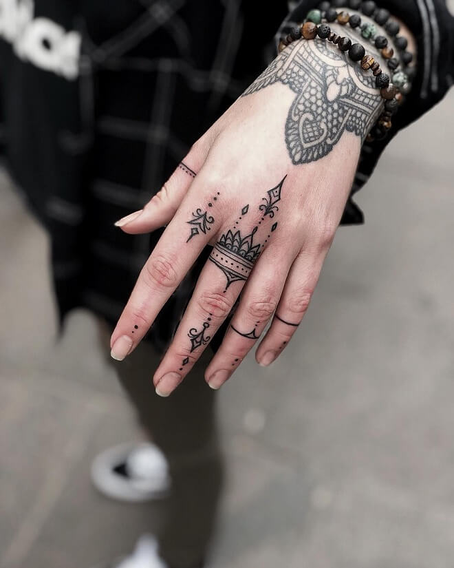 Hand Tattoo For Girl