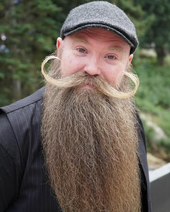 Long Beard with a Shaped Mustache