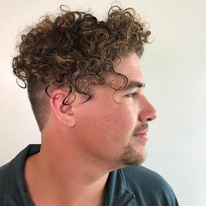 Long Curly With Undercut