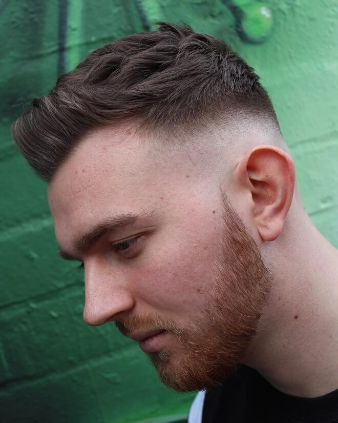 Low Bald Fade With Beard Styles