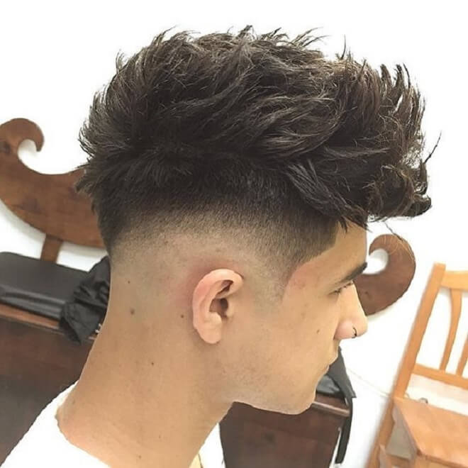 Low Fade With Messy Hairstyles