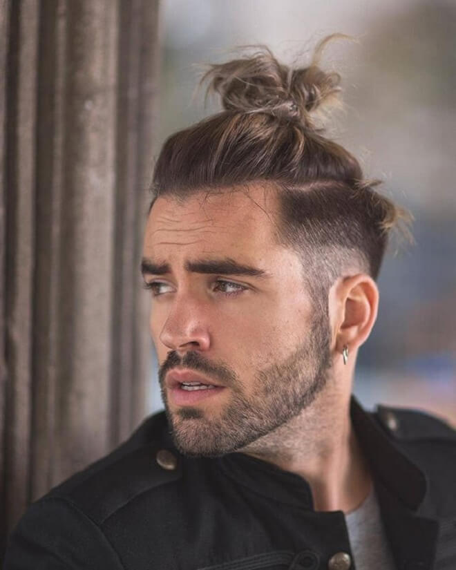 Low Fade With Top Knot