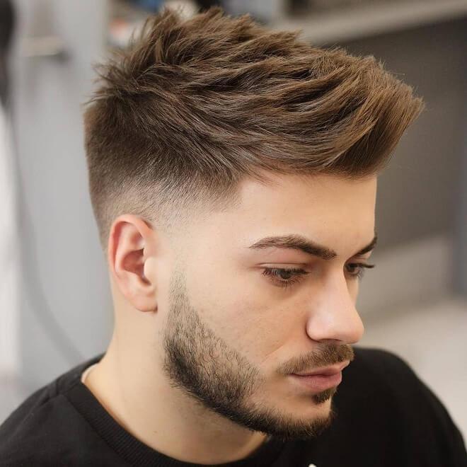 Low Temp Fade Textured Quiff Hair