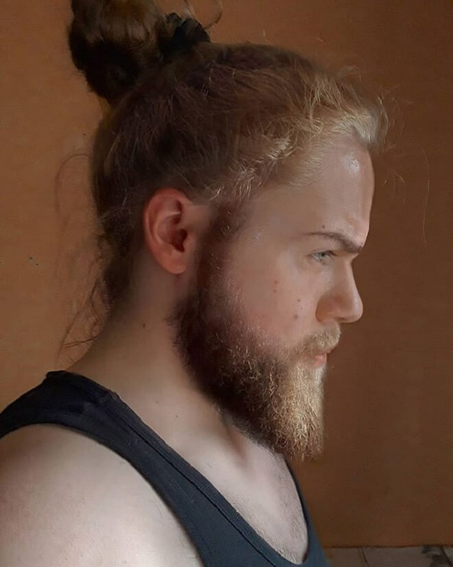 Man Bun With Beard Style
