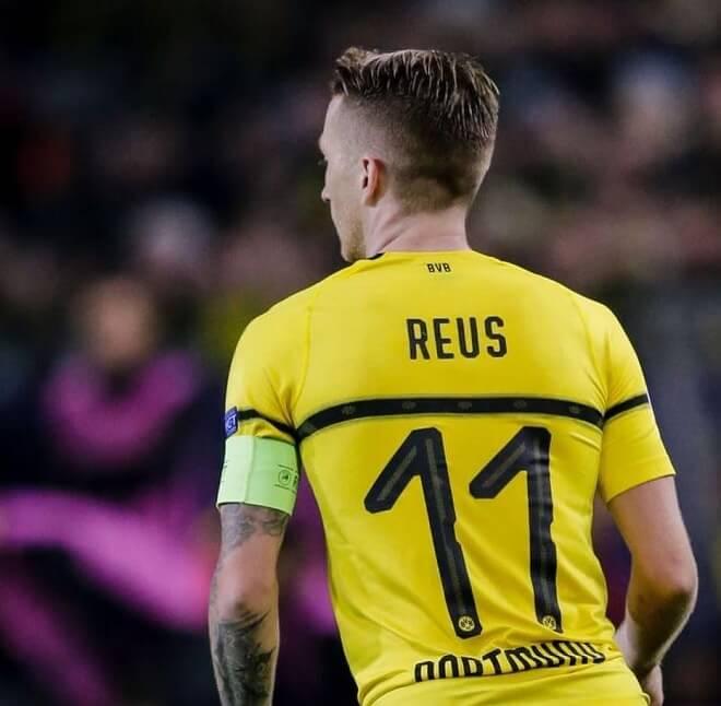 Marco Reus Haircut With Medium Razor Fade