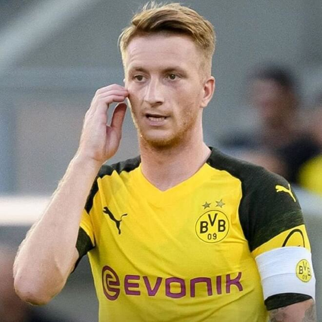 Marco Reus Side Parting Haircut