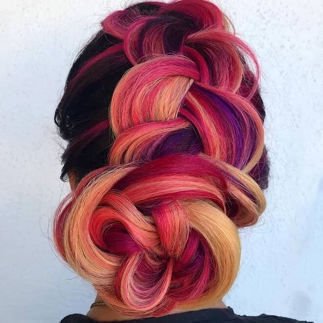 Mermaid Bun Hairstyle