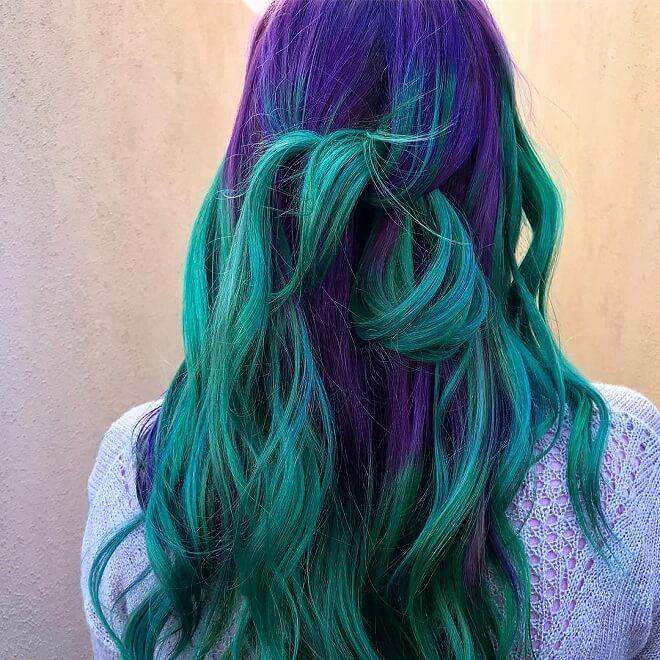 Mermaid Purple Hairstyles