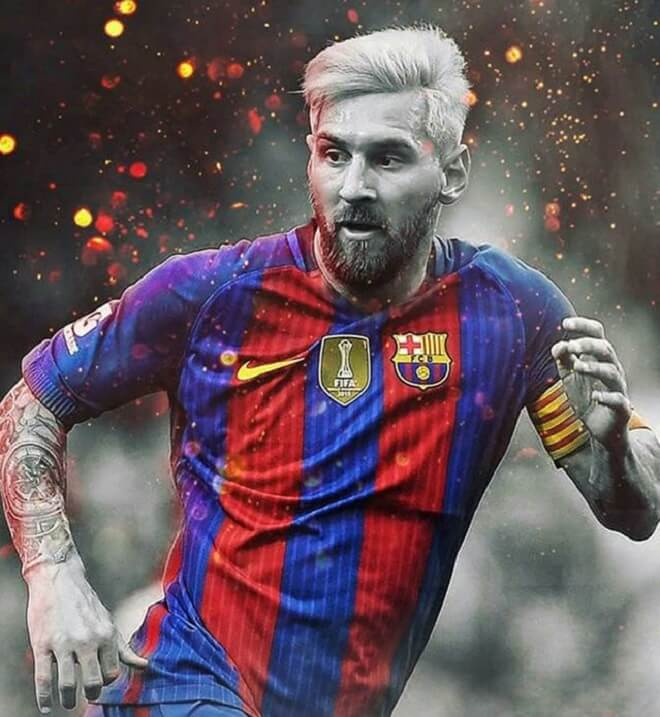 Messi Blonde Hairstyles