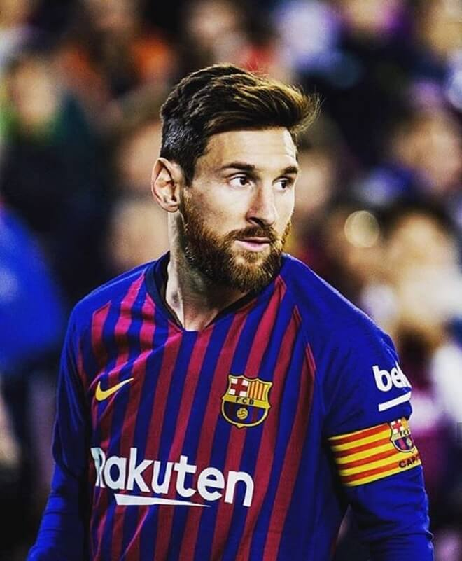 Messi Haircut With Beard Styles