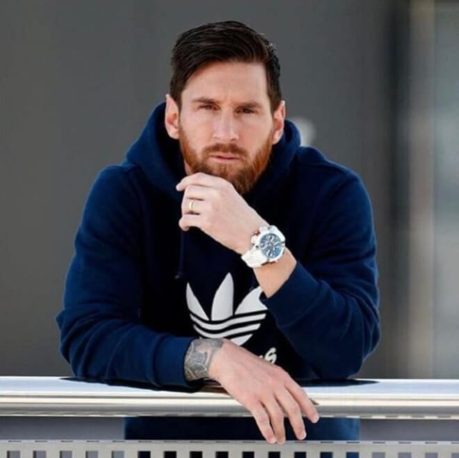 Messi Side Swept Hairstyles