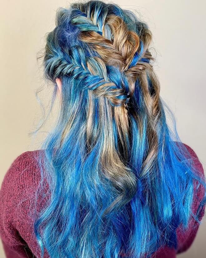 Messy Hairstyle With Braids