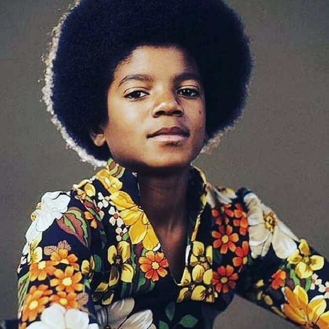 Michael Jackson Childhood Afro Hairstyles