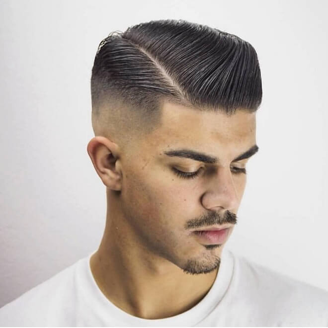 Mid Bald Fade with Comb Over