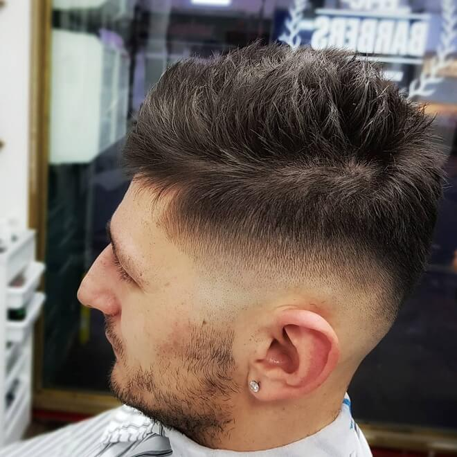 Mid Skin Fade With Thick Spiky Hair