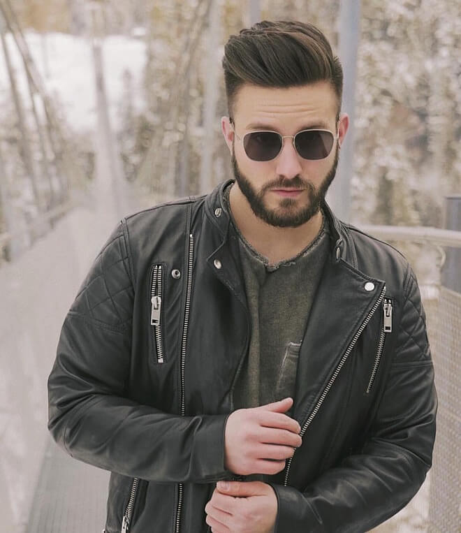 Pompadour With Beard Styles