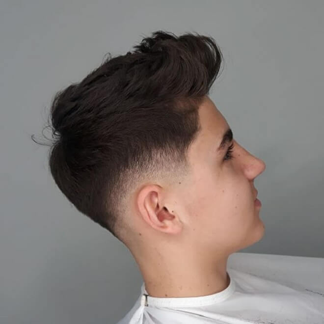 Quiff Style With Tape Fade