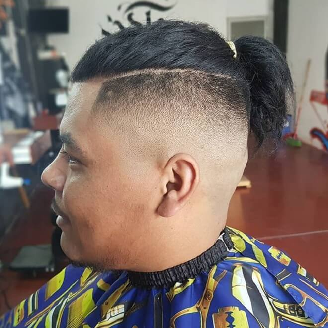 Razor Fade With Knot