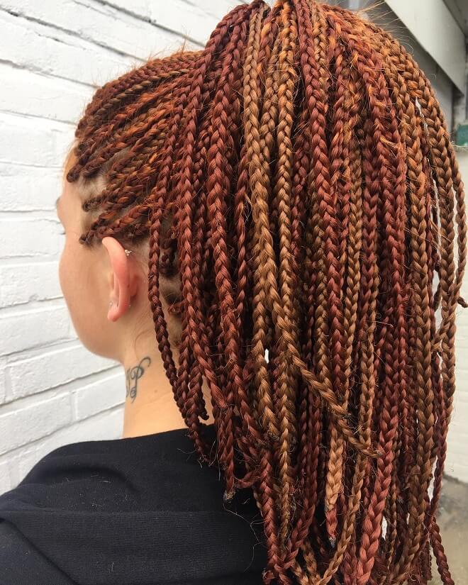 Red Hair Twist Braids