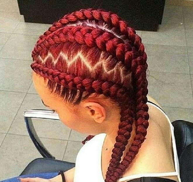 Reddish Twist Braids