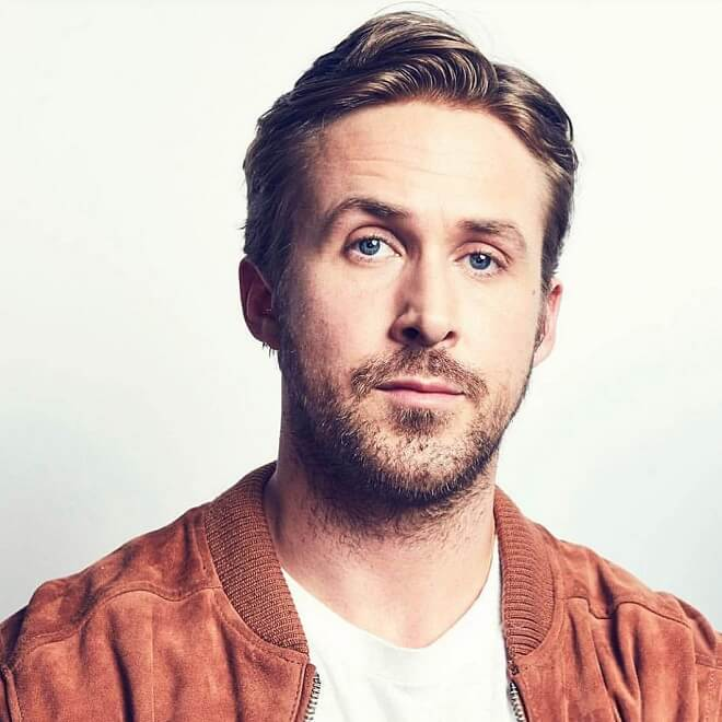 Ryan Gosling Side Part Comb Over Haircut