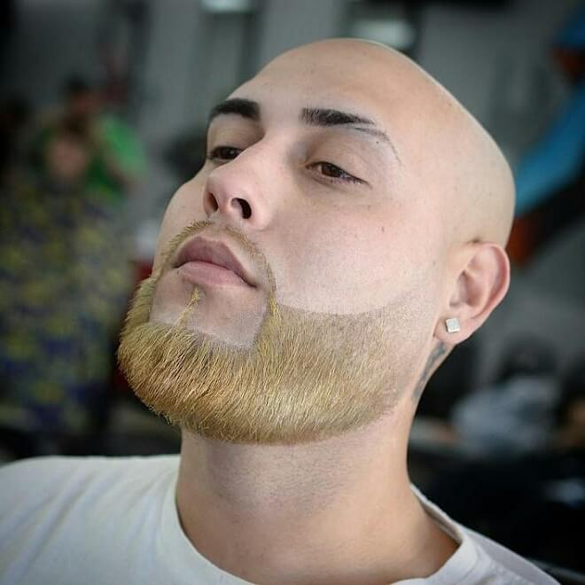 Shaved Head With Blonde Beard